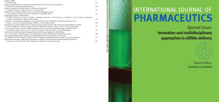 Published the special issue of International Journal of Pharmaceutics